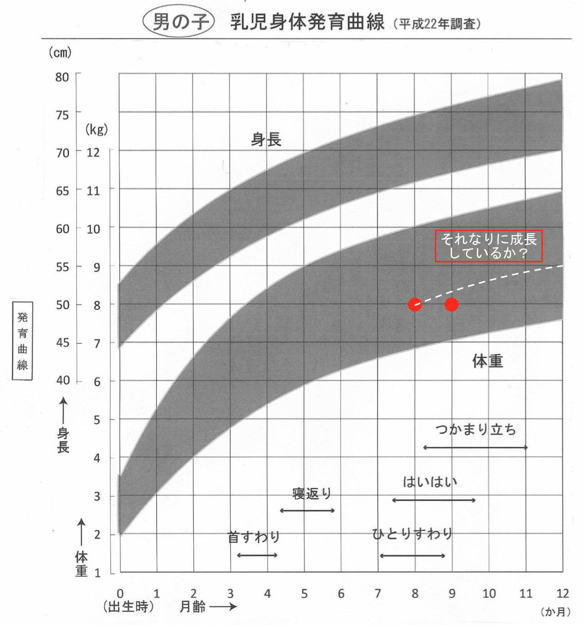 乳児発育曲線・体重